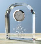 Faceted Arch Clock Achievement Awards
